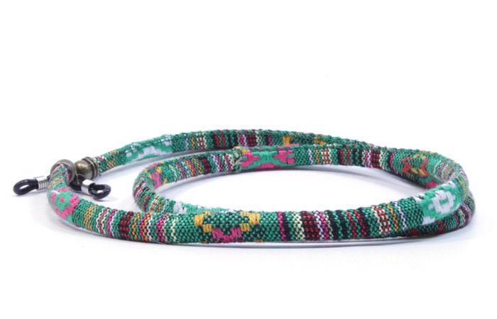 32e2d997c Cordón para gafas étnico redondo verde | Asun Oliver Ópticas