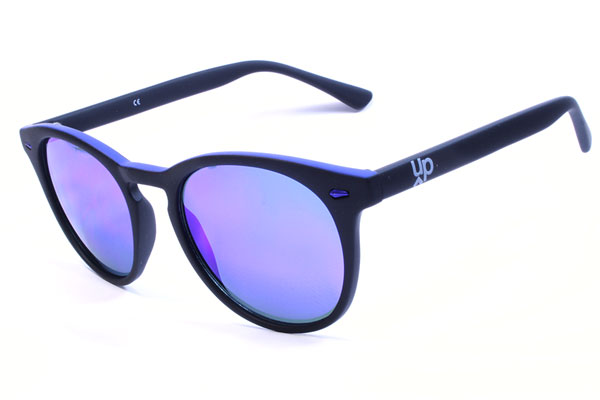 Gafas de sol Up espejo azul y color negro Holly
