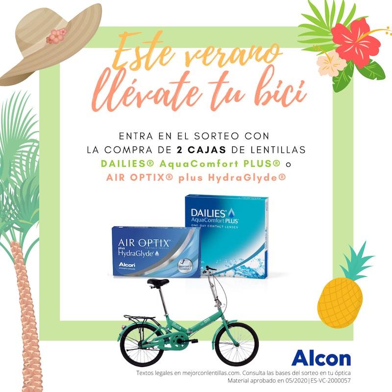 Sorteo verano bici plegable lentes de contacto Alcon
